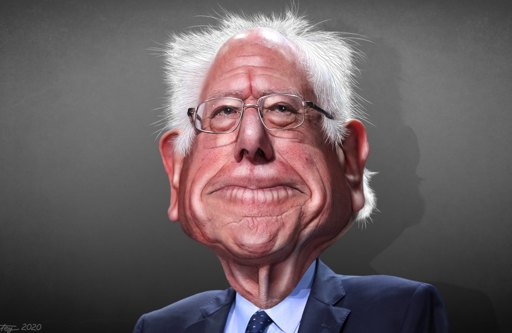 """Bernie Sanders - Caricature"" flickr photo by DonkeyHotey https://flickr.com/photos/donkeyhotey/49474224473 shared under a Creative Commons (BY-SA) license"
